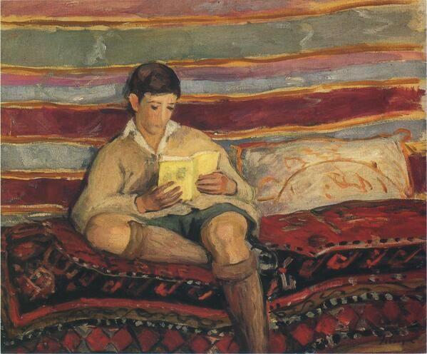Henri Lebasque(1865ー1937)「Young Boy Reading」