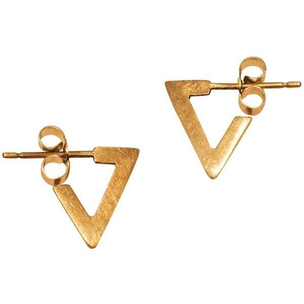 Mei-li Rose Triangle Drop Earrings qQ72RuyFge