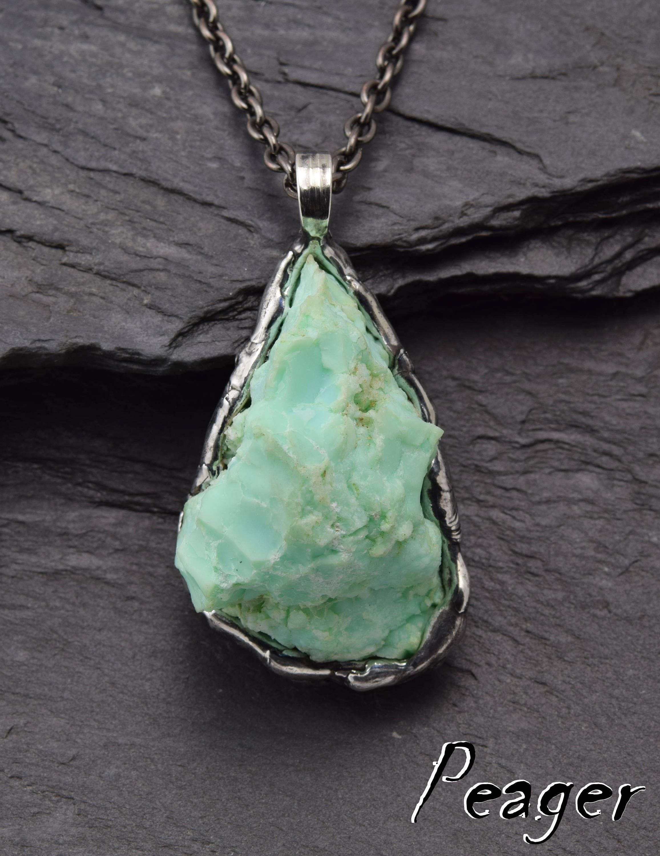 chrysoprase kaia diamond sterling sliced silver and v adornia necklace champagne width p