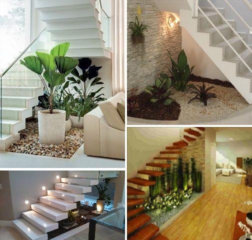jardim e adega embaixo da escada  Pesquisa Google  House  Pinterest  Con # Banheiro Pequeno Embaixo De Escada