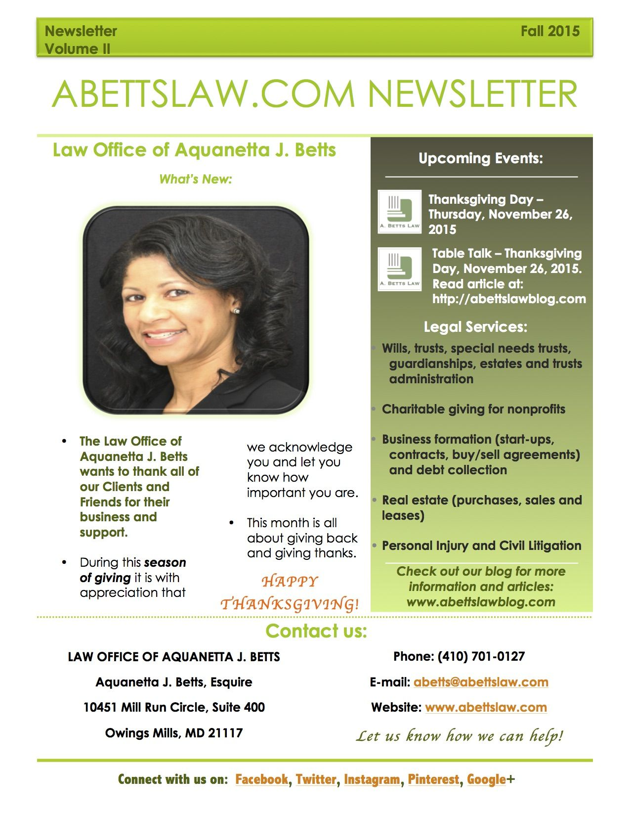 The Newsletter is out. This edition gives