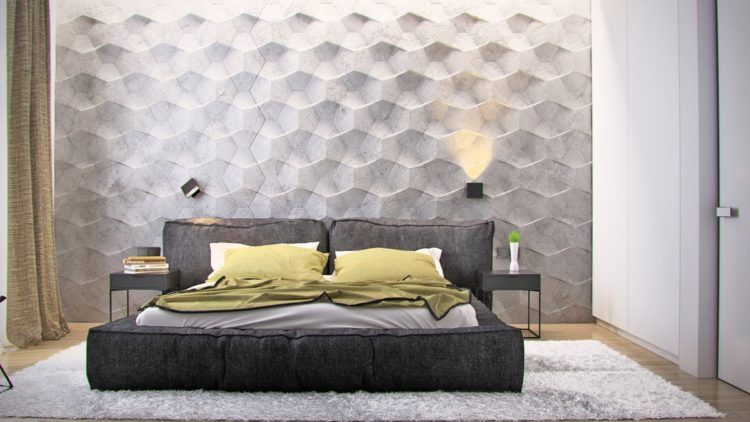 20 Beautiful Examples Of Textured Wallpaper Bedroom Wall Texture Wall Decor Bedroom Bedroom Wall Designs