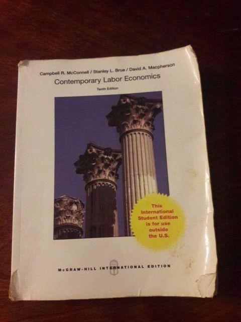 contemporary labor economics 10th edition mcgraw hill international