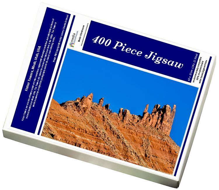 Jigsaw Puzzle-Fisher Towers, Moab, Utah, USA-400 Piece Jigsaw Puzzle made to order in the UK