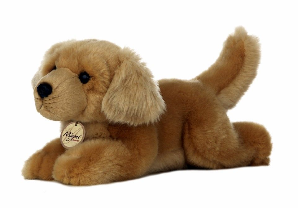 11 Aurora Plush Golden Retriever Tan Puppy Dog Miyoni Stuffed