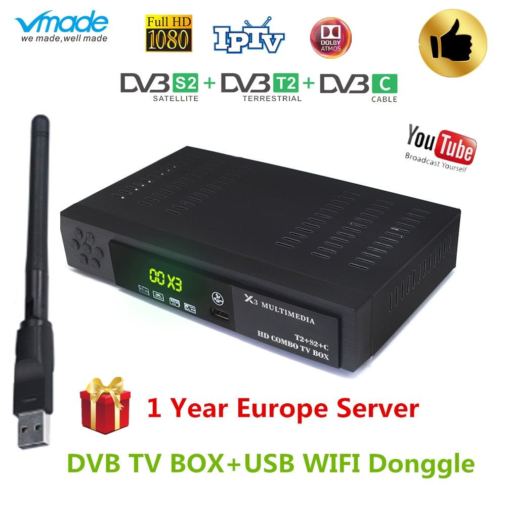 2019 New Dvb T2 Dvb S2 Dvb C Combo Receiver Support Cccam Powervu Youtube Ac3 Dvb T2 S2 C 3 In 1with Usb Wifi Satellite Re Satellite Receiver Dvb T2 Satellites