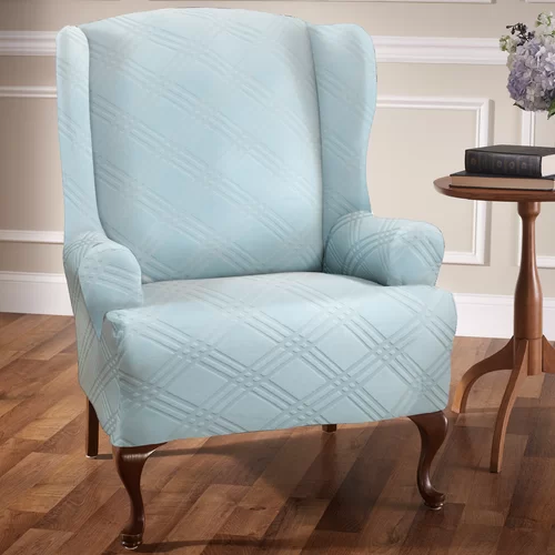 Sensations TCushion Wingback Slipcover Slipcovers for