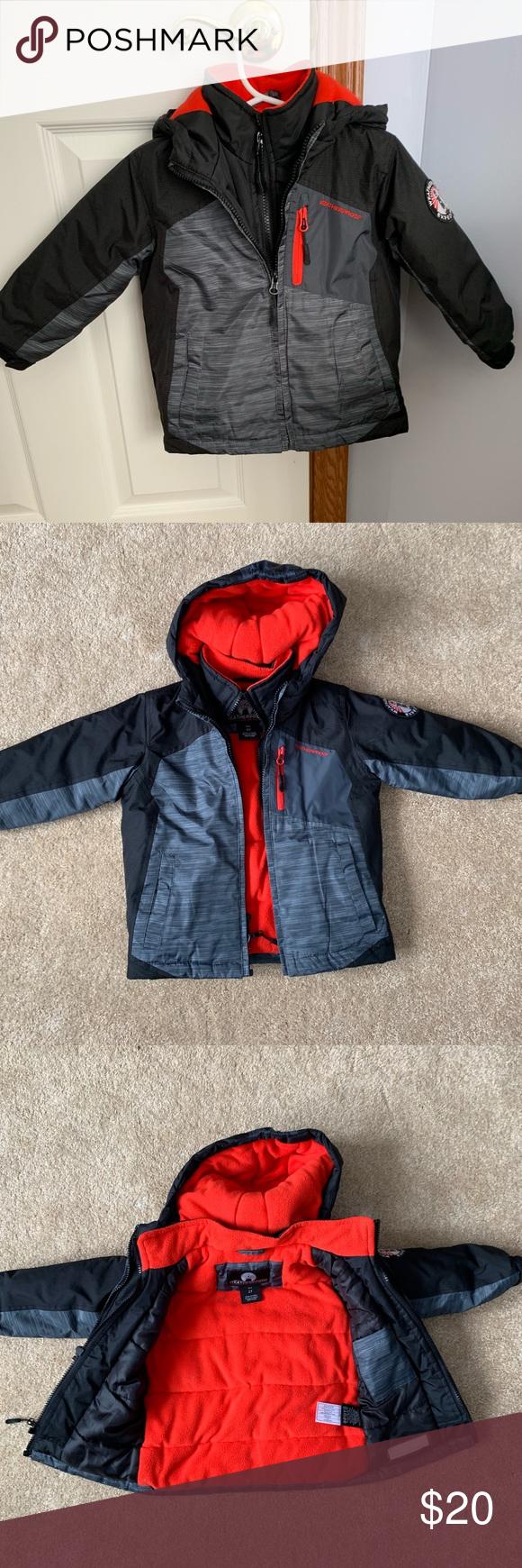 Toddler Boy Weatherpoof Coat Jacket 2t Size 2t Double Zipper Weatherproof Brand Coat Black Gray Red In Color With Red Weatherproof Jacket Jackets Red Fleece [ 1740 x 580 Pixel ]