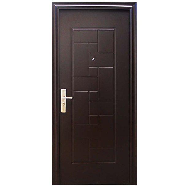 Puerta seguridad tiara 95 chocolate derecha pintura de for Puertas de metal para interiores