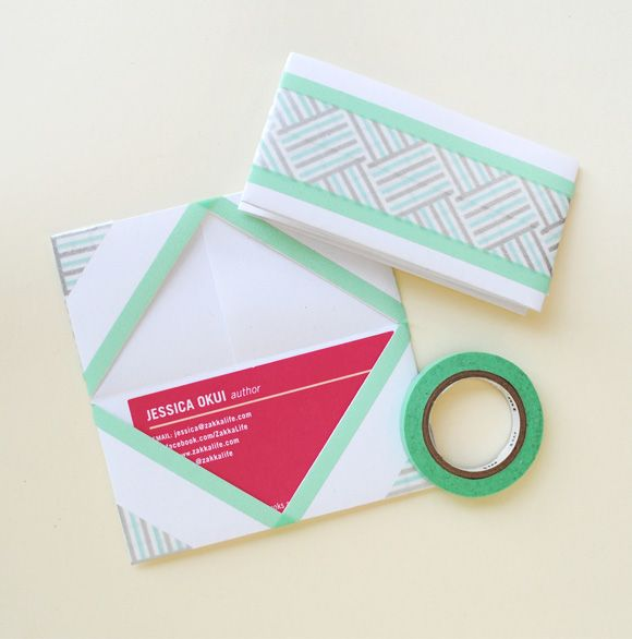 Origami Business Card Holder With Washi Tape Details Craft Washi
