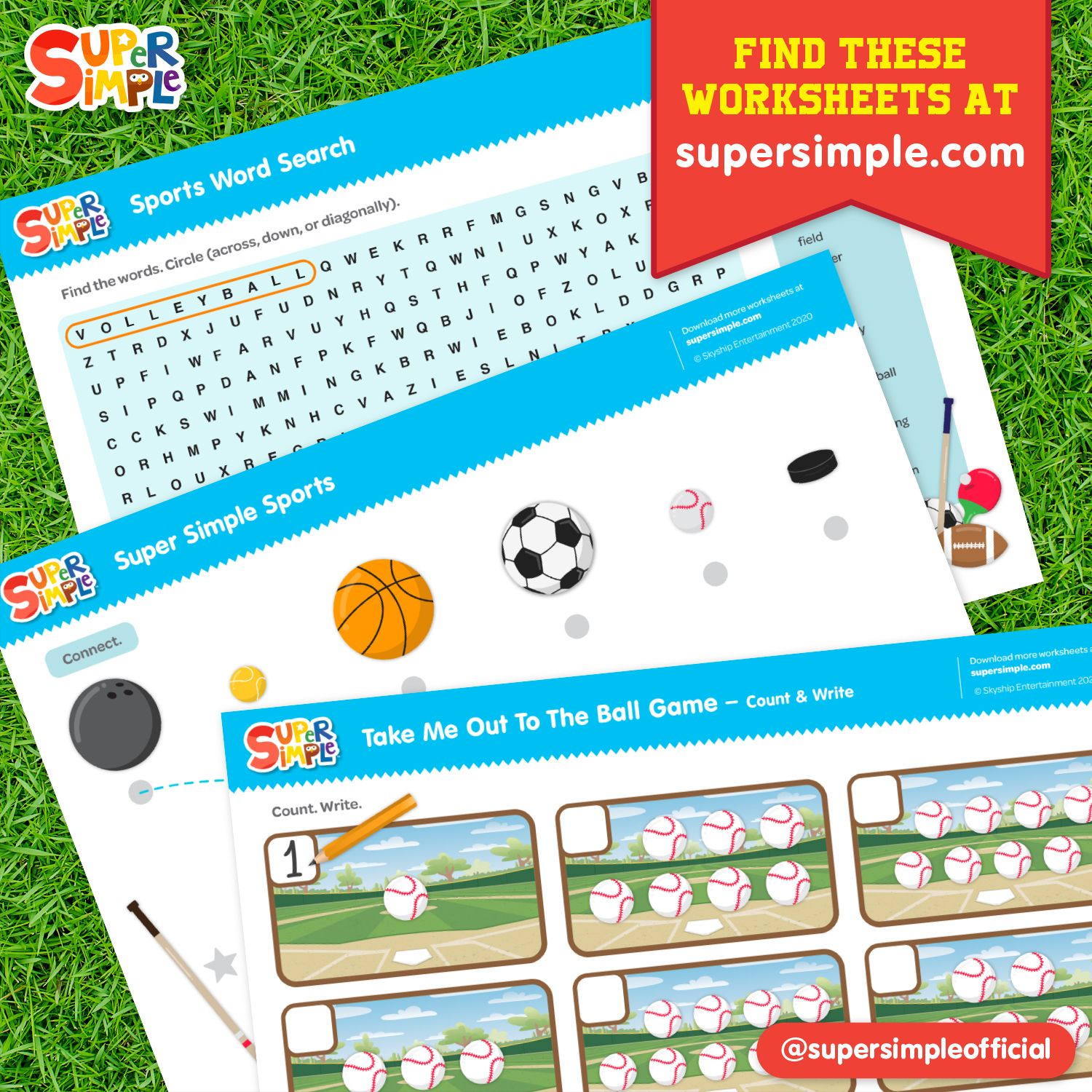Sports Worksheets Free Printouts Super Simple Songs
