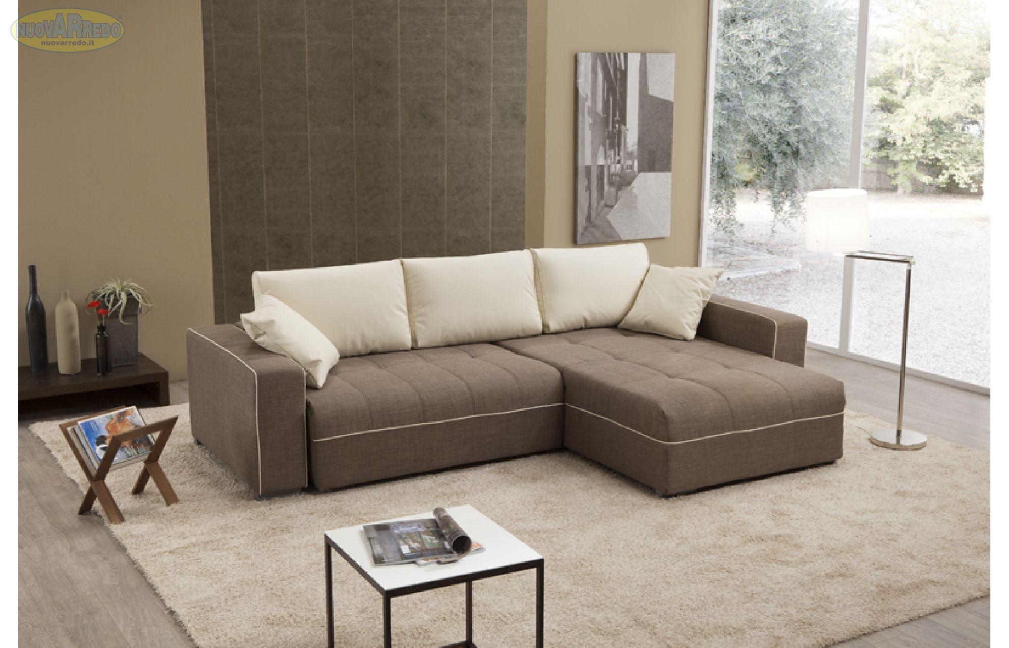 Prezzo 650 divano casa bicolore scocca in tessuto for Tende beige e marrone