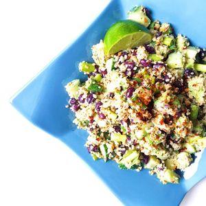 Creamy Avocado, Lime & Bean Freekeh Salad