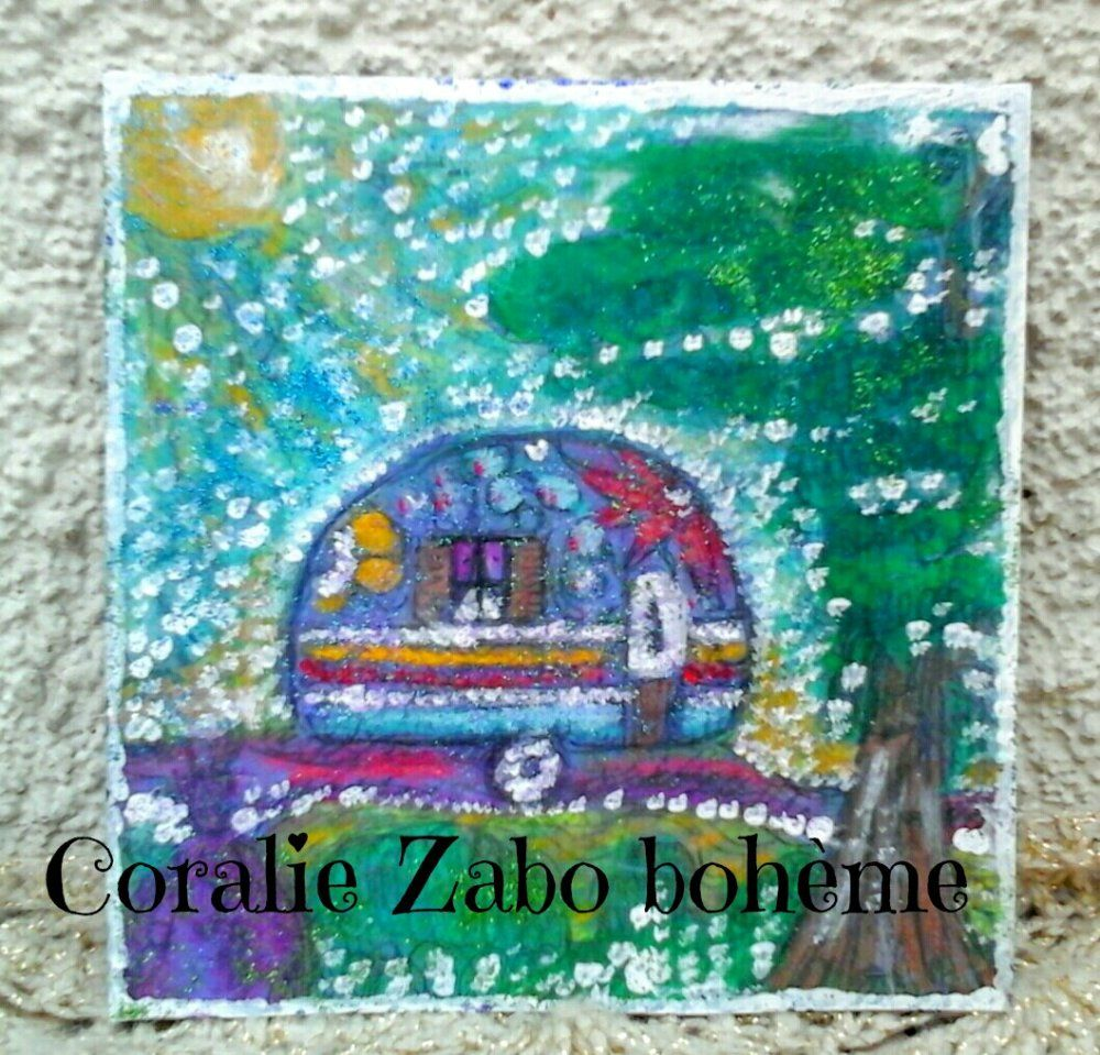 Cart D Art Carte Peinte A La Main Aquarelle Acrylique