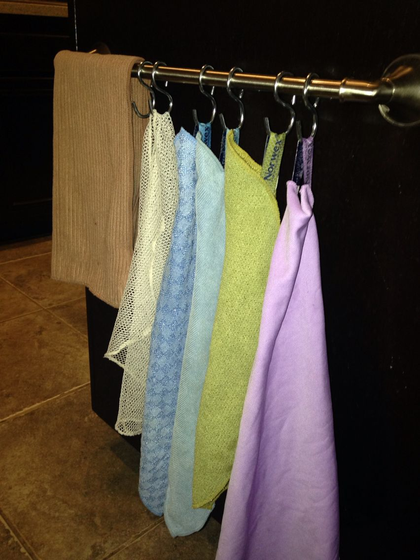 Here S A Handy Way To Hang And Organize All Your Norwex Cloths Thanks To My Creative Husband For This Great Idea Norwex Norwex Cloths Norwex Cleaning