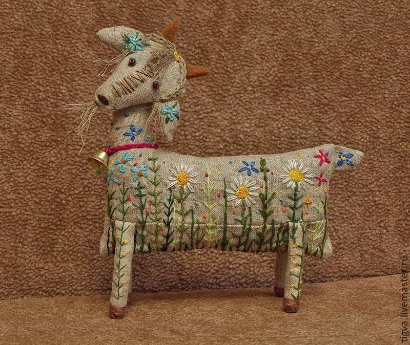 Игрушки животные, ручной работы. Ярмарка Мастеров - ручная работа Коза Маня. Handmade.