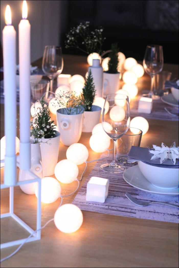 49 Ideen fr Dekoration mit Party Lichterkette  Love Home  Ideen fr weihnachten Tischdeko