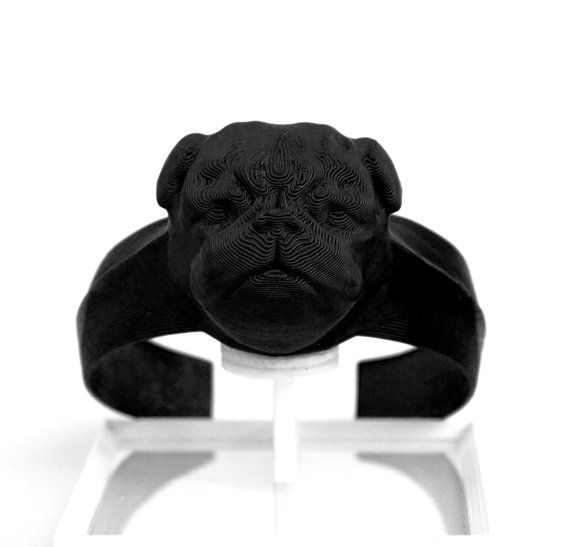 Bracelets made on 3D printer frenchdogs pug. dog lovers by Djinn3D