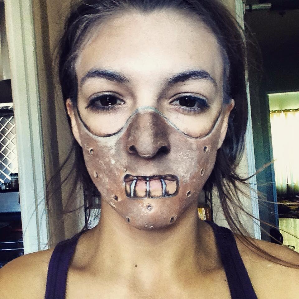Silence of the lamb mask makeup, halloween, hannibal