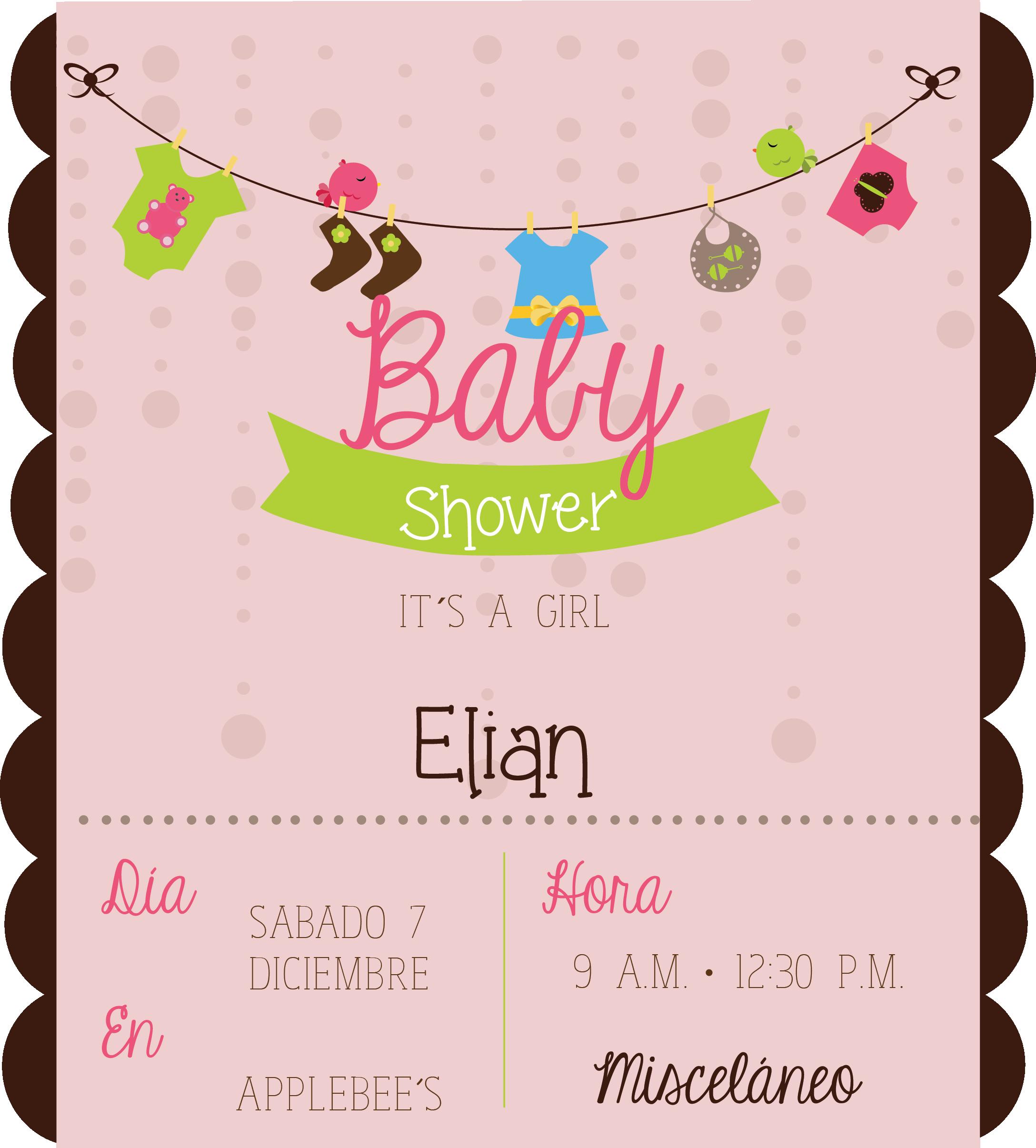 Invitacion Para Baby Shower Babyshower Invitacion Bebe Diseño