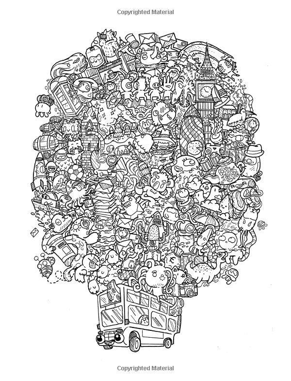 Amazon Com Doodle Chaos Zifflin S Coloring Book Volume 3 9781523834778 Doodle Art Designs Color Coloring Books