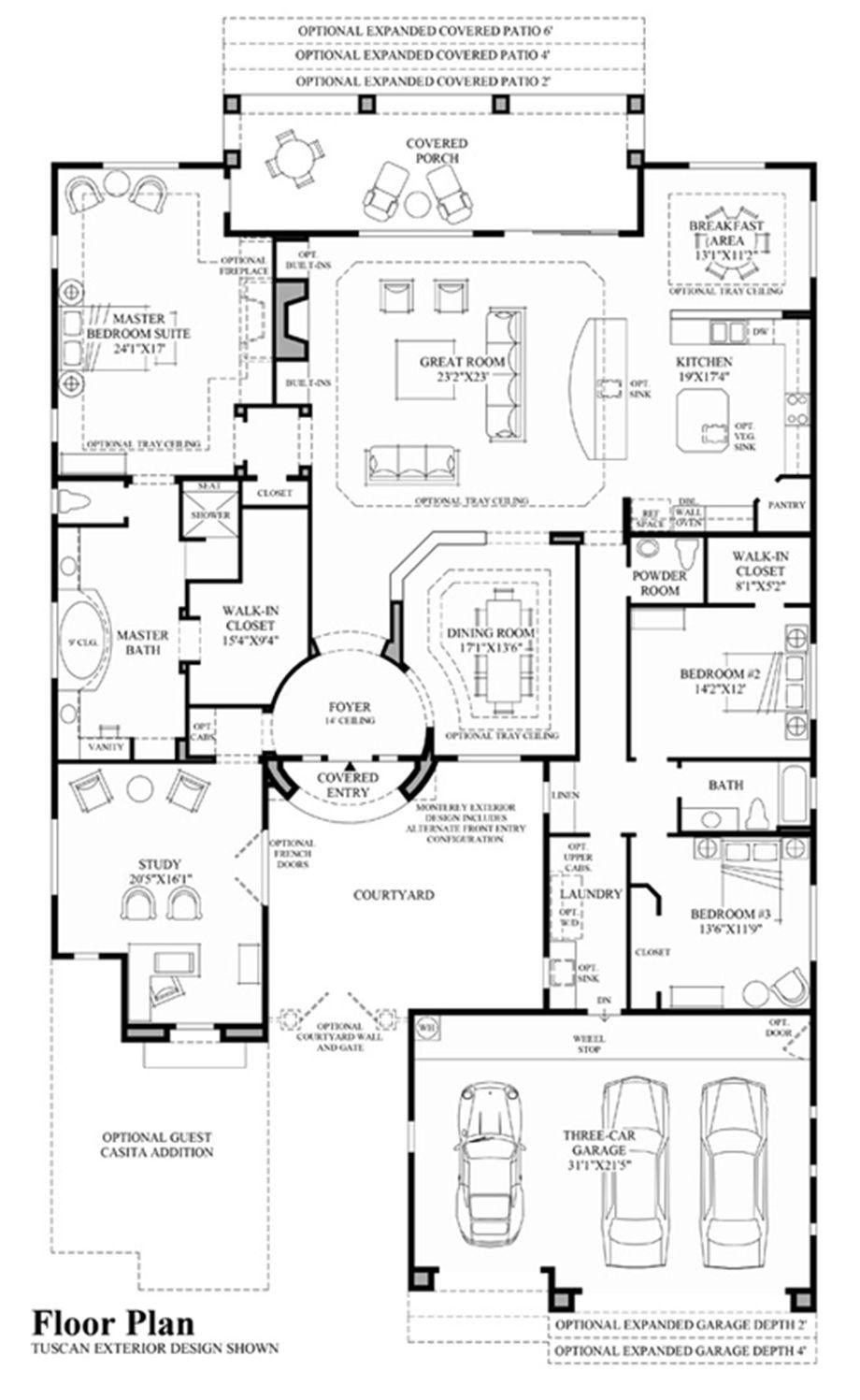 Montierra At Windgate Ranch Scottsdale Desert Willow Collection Luxury New Homes In Scottsdale Home Design Floor Plans House Floor Plans Dream House Plans