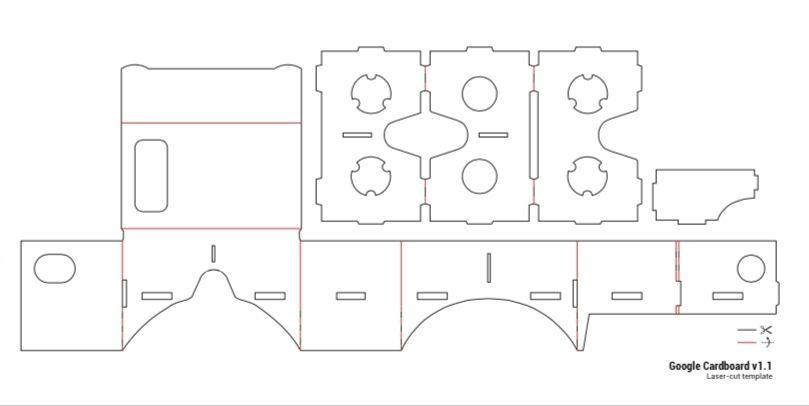 Google Cardboard Template | Google cardboard, Cardboard vr