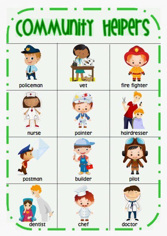 Community Helper words desk chart | Done | Pinterest | Community ...
