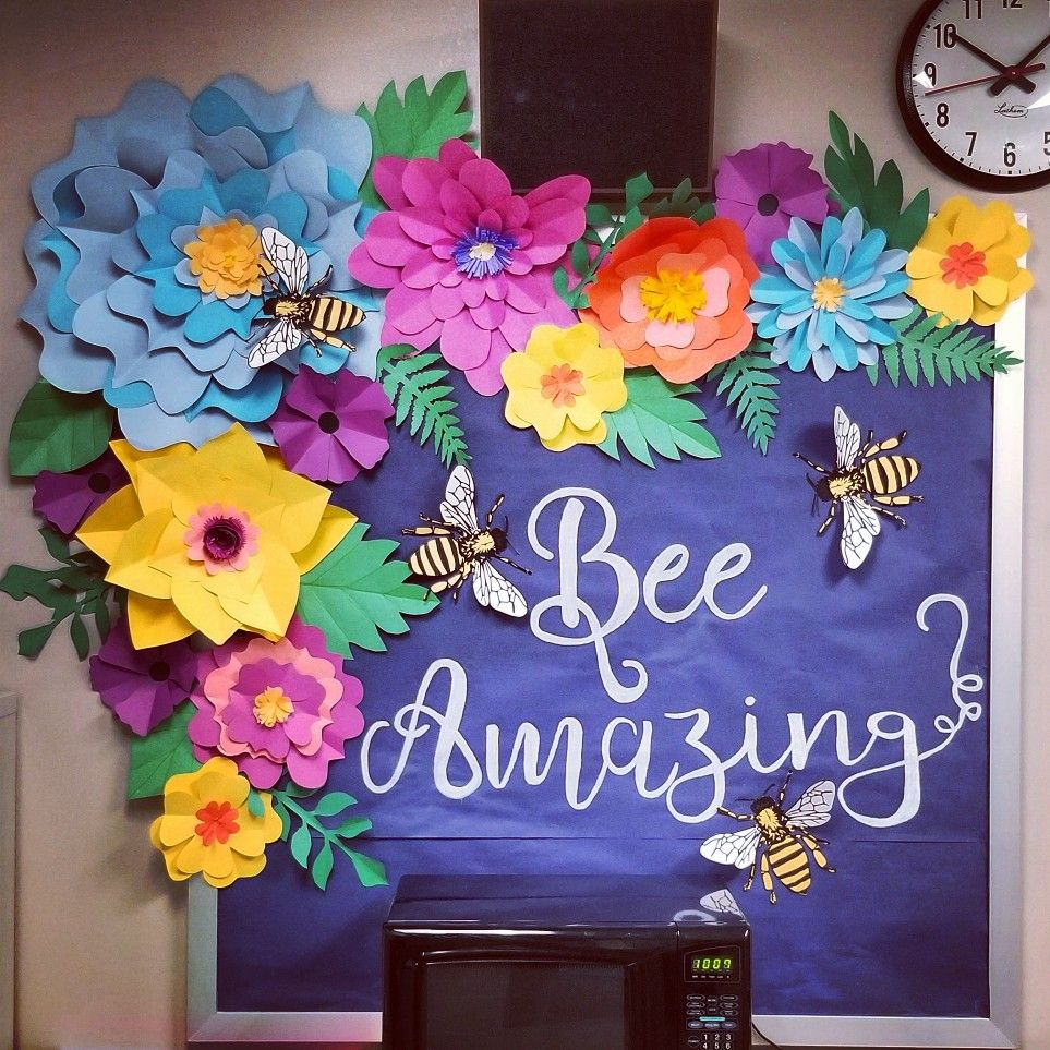 Bee Amazing 3d Flower Bulletin Board Flower Bulletin Boards Bee Classroom Spring Bulletin Boards