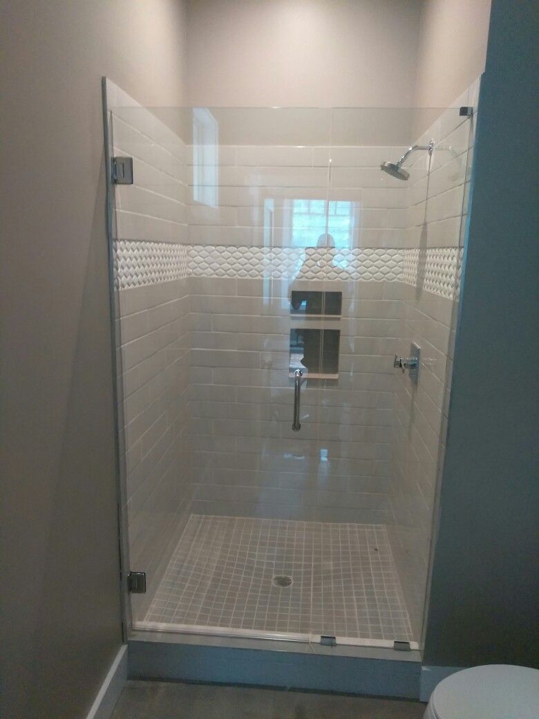 3 8 Frameless Shower Door Installed In Alpharetta Ga Text Me At 404 838 9972 For Your No Cost Estimat Bathrooms Remodel Frameless Shower Doors Shower Doors
