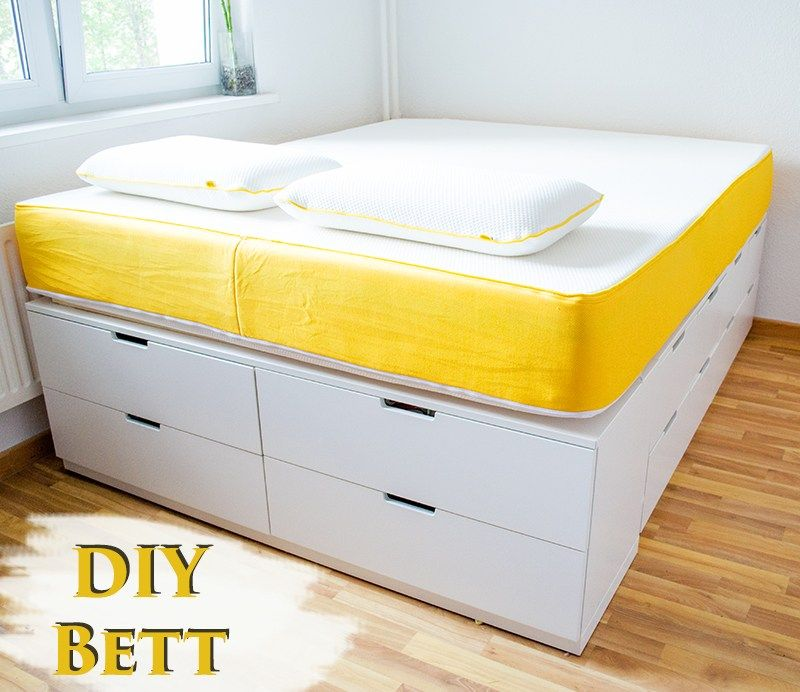 diy ikea hack plattform bett selber bauen aus ikea kommoden werbung basteln deko. Black Bedroom Furniture Sets. Home Design Ideas