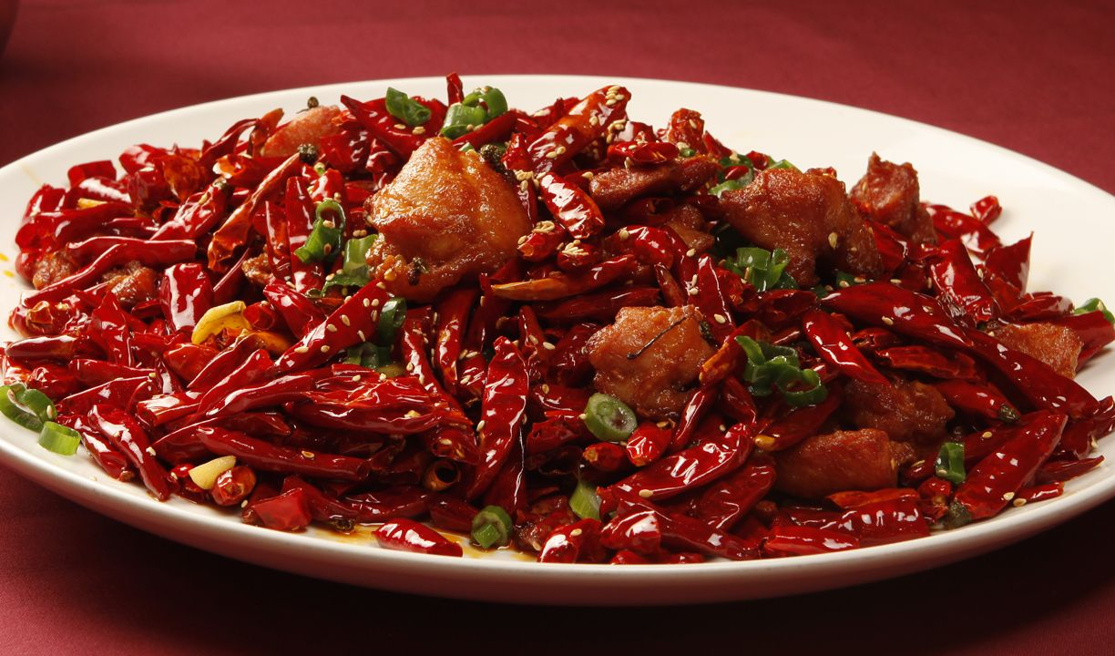 Chicken With Explosive Chili Pepper Chinese Dishes Recipes Fair Food Recipes Chicken Chili