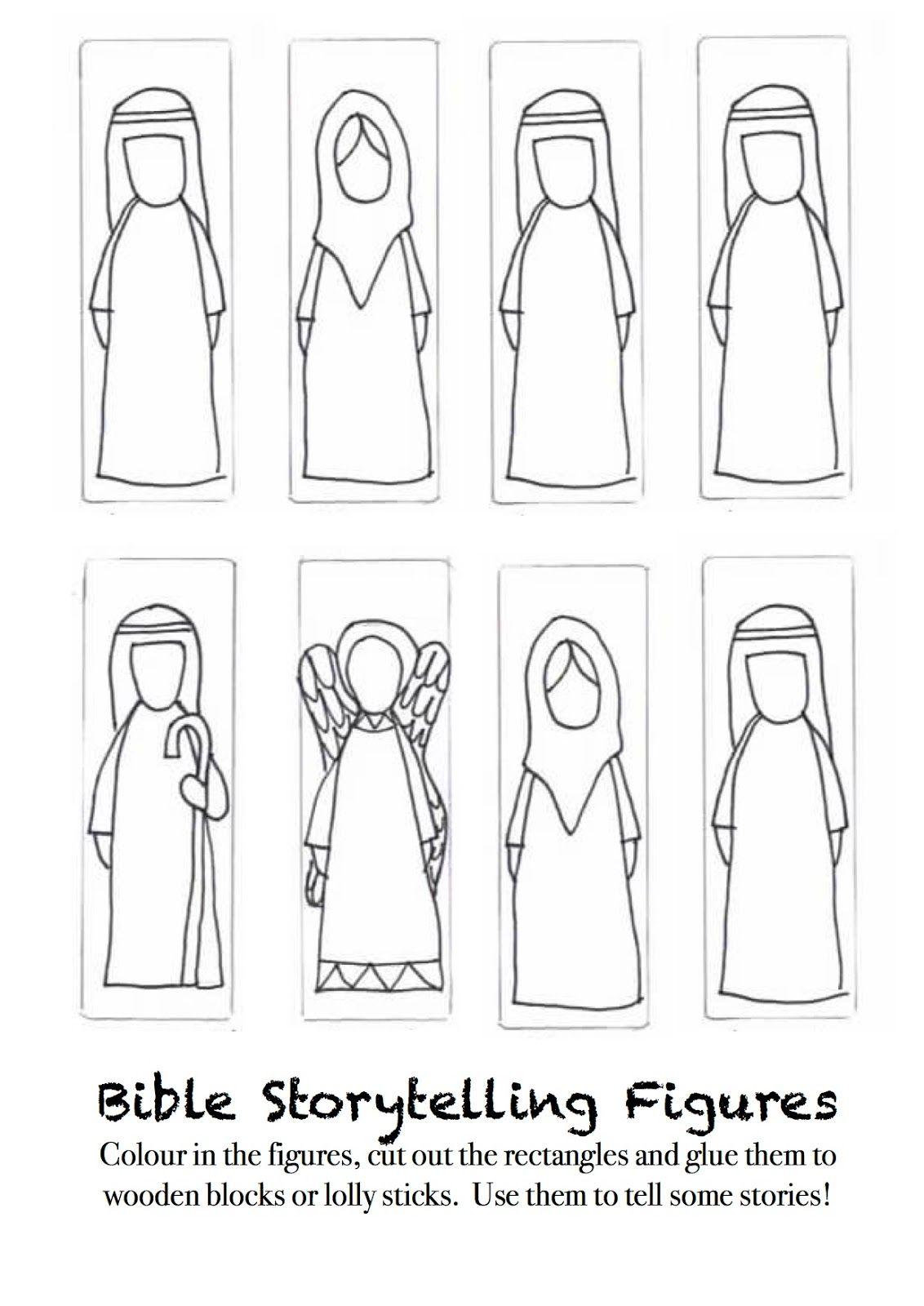 Elisha Bible Printable Figures