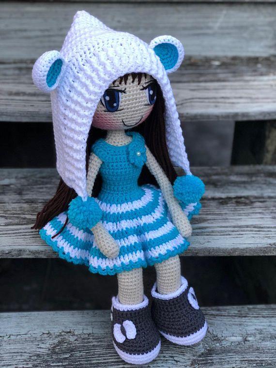 PATTERN Crochet Judith Doll, PATTERN   Pinterest   Crochet doll ...