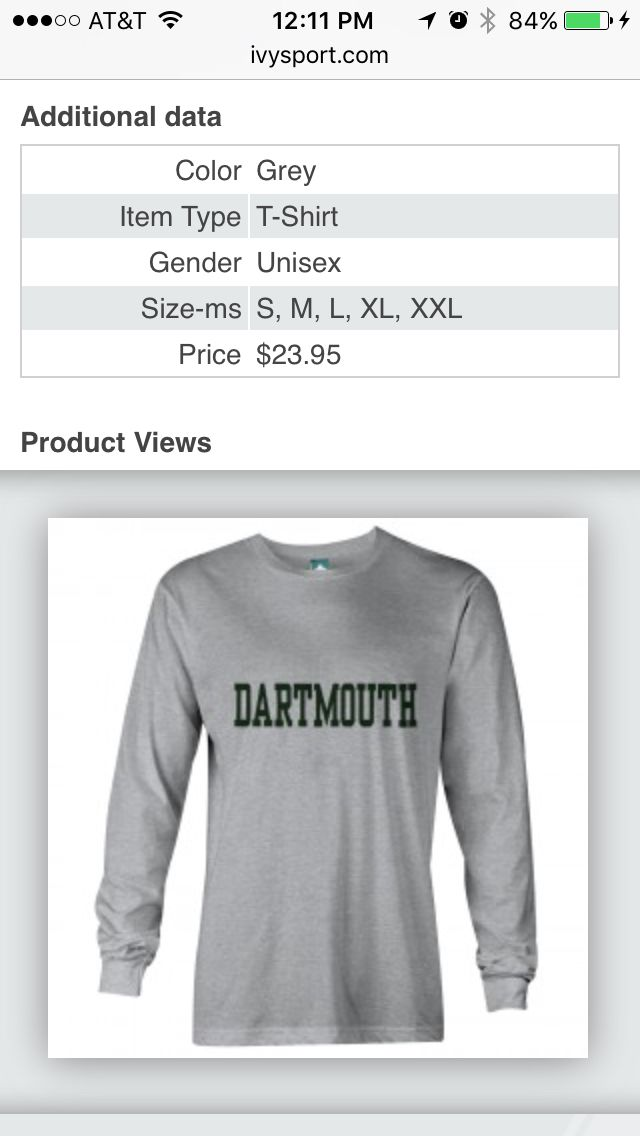 Dartmouth long sleeve like Meredith Grey in Grey\'s Anatomy. XXL | I ...