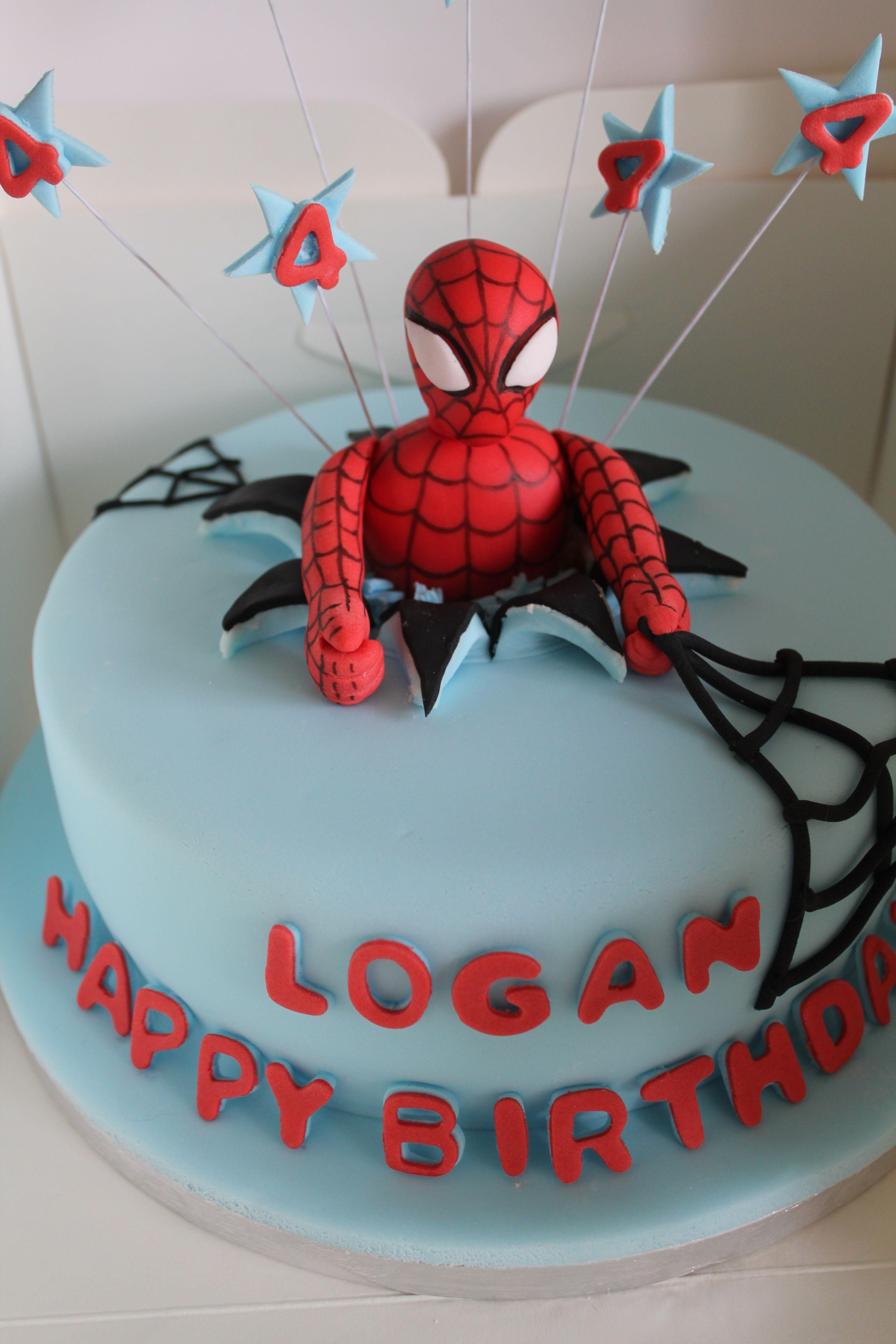Spiderman Birthday Cake Pink glass Pinterest Spiderman