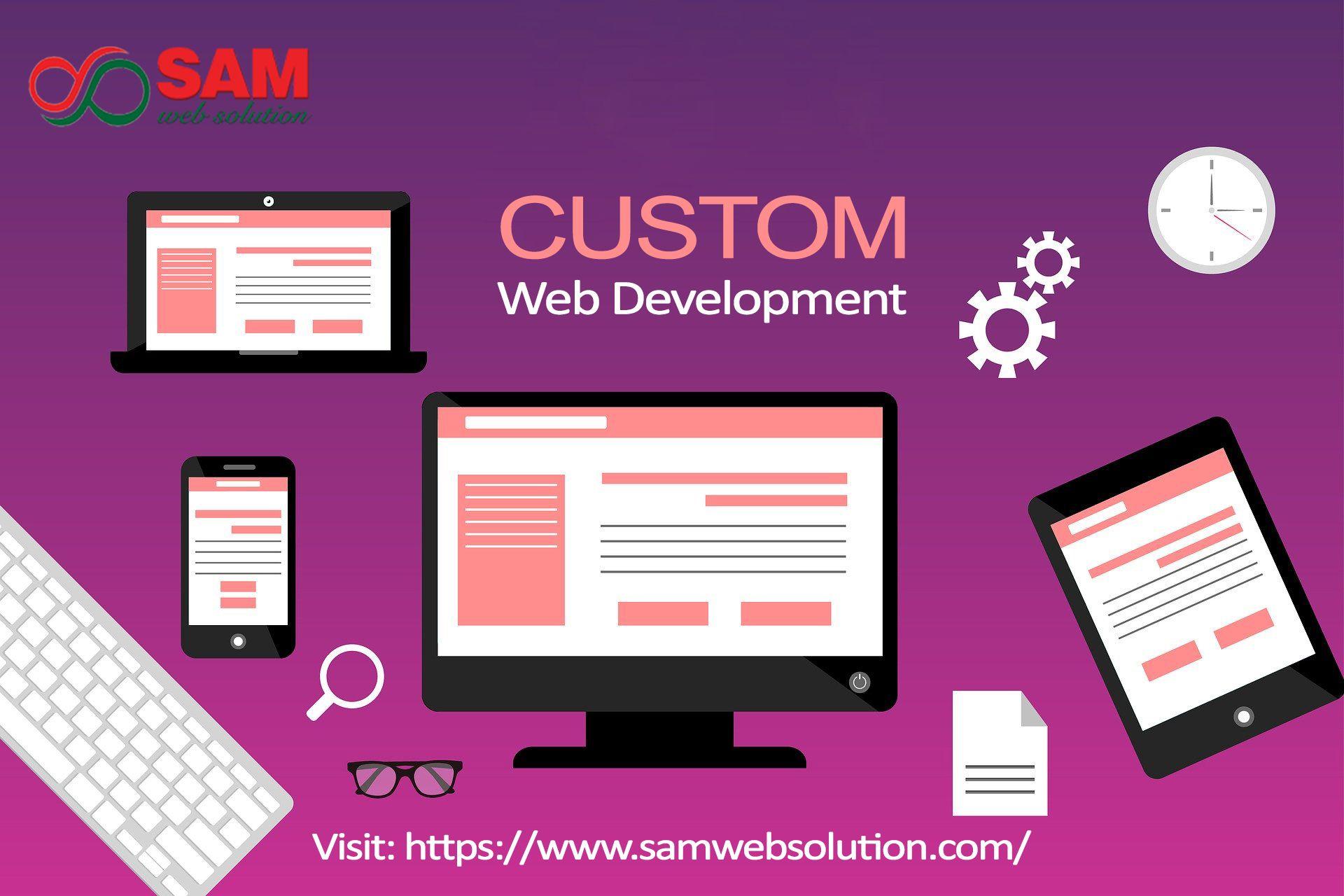 Custom Web Design And Development Services Web Development Web Development Design Custom Web Design