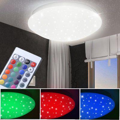 Design LED Decken Lampe Fernbedienung Gästezimmer Sternen Himmel Leuchte dimmbar