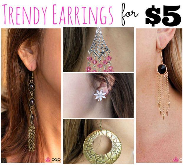 Trendy Earrings for 5$