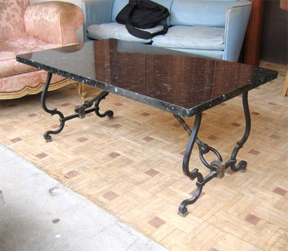 Iron Table Bases For Granite Tops Iron Coffee Table Granite