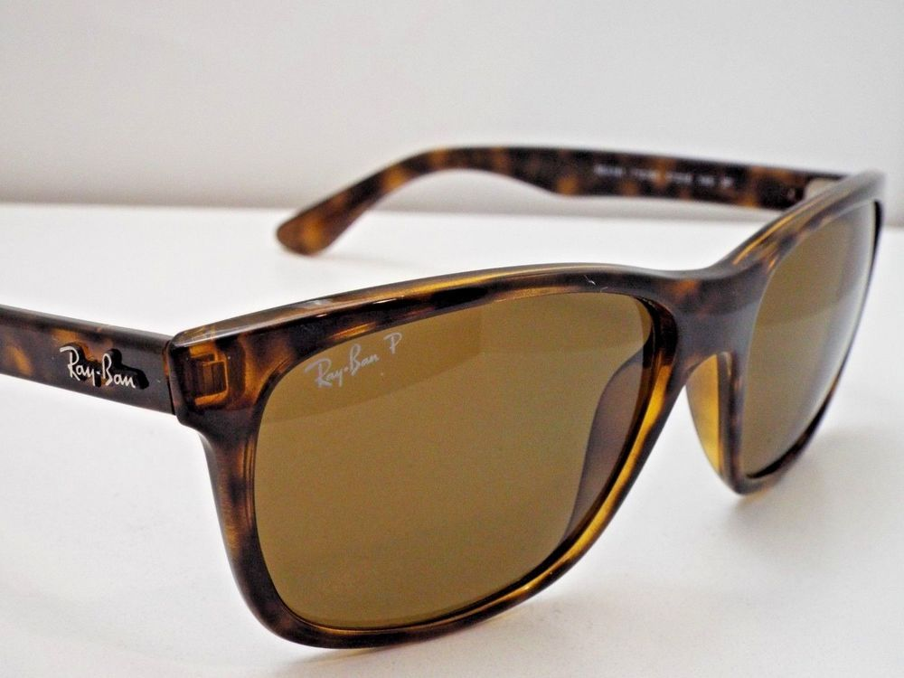 a3f35a31e1 Authentic Ray-Ban RB 4181 710 83 Tortoise Brown B-15 Polarized Sunglasses