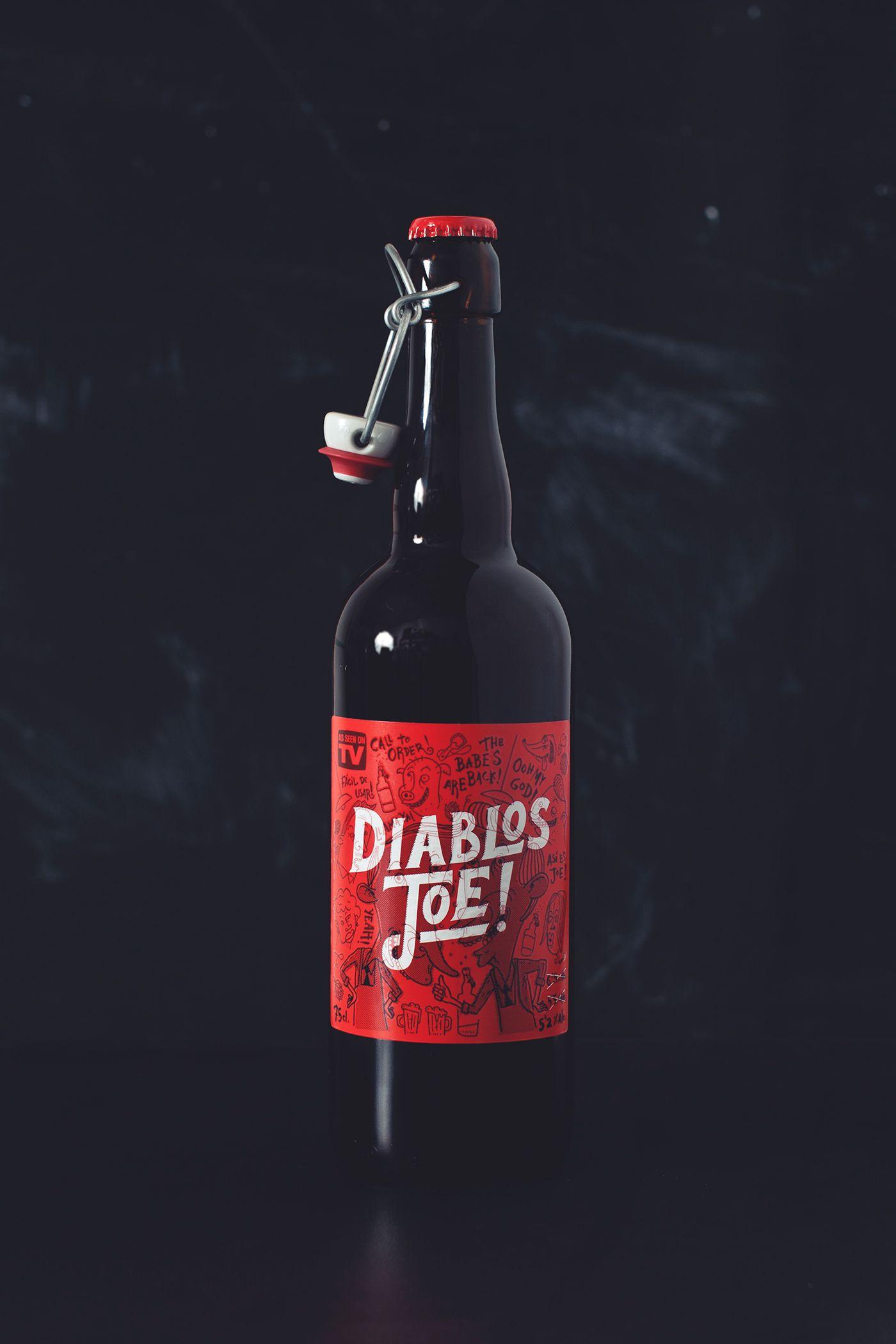 Designed Labels For Artisan Beer Diablos Joe For Microbrewery Tyris Etiquetas De Bebidas Cerveza Artesanal Disenos De Unas
