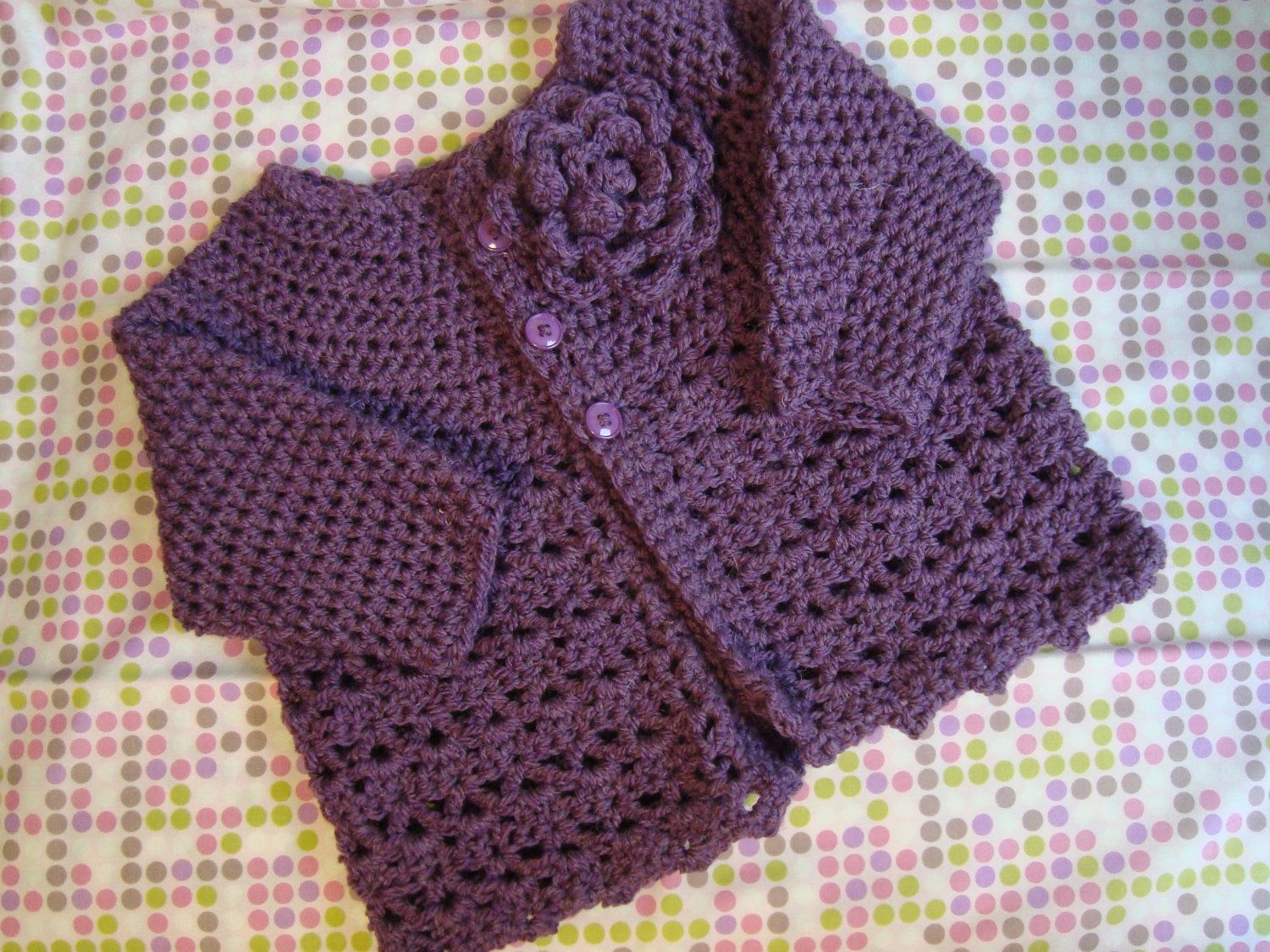 Crochet baby sweater in soft yarn and vibrant colours. | bebes ...