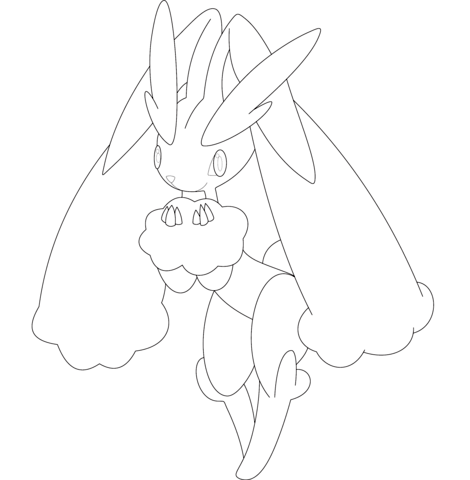 Lopunny Coloring Page Pokemon Coloring Pages Coloring Pages Pokemon Coloring