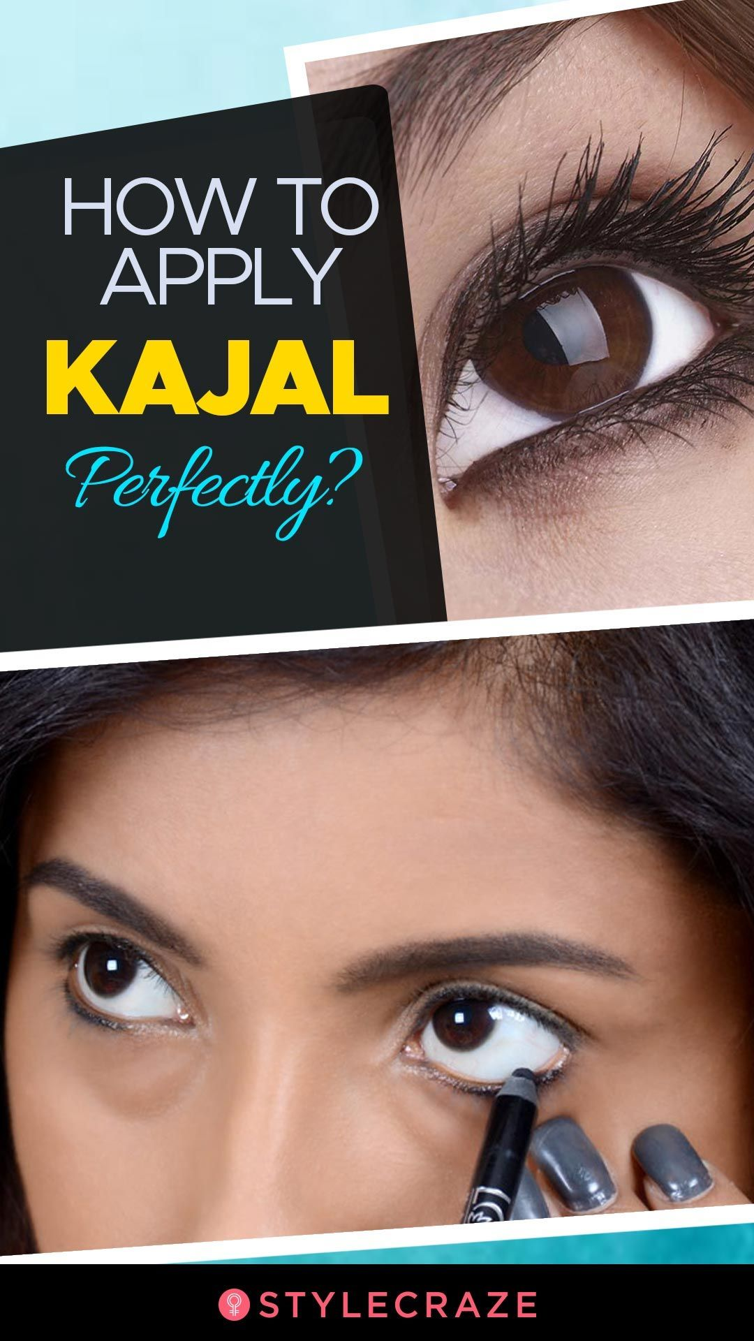 How To Apply Kajal On Eyes Perfectly? Step by Step