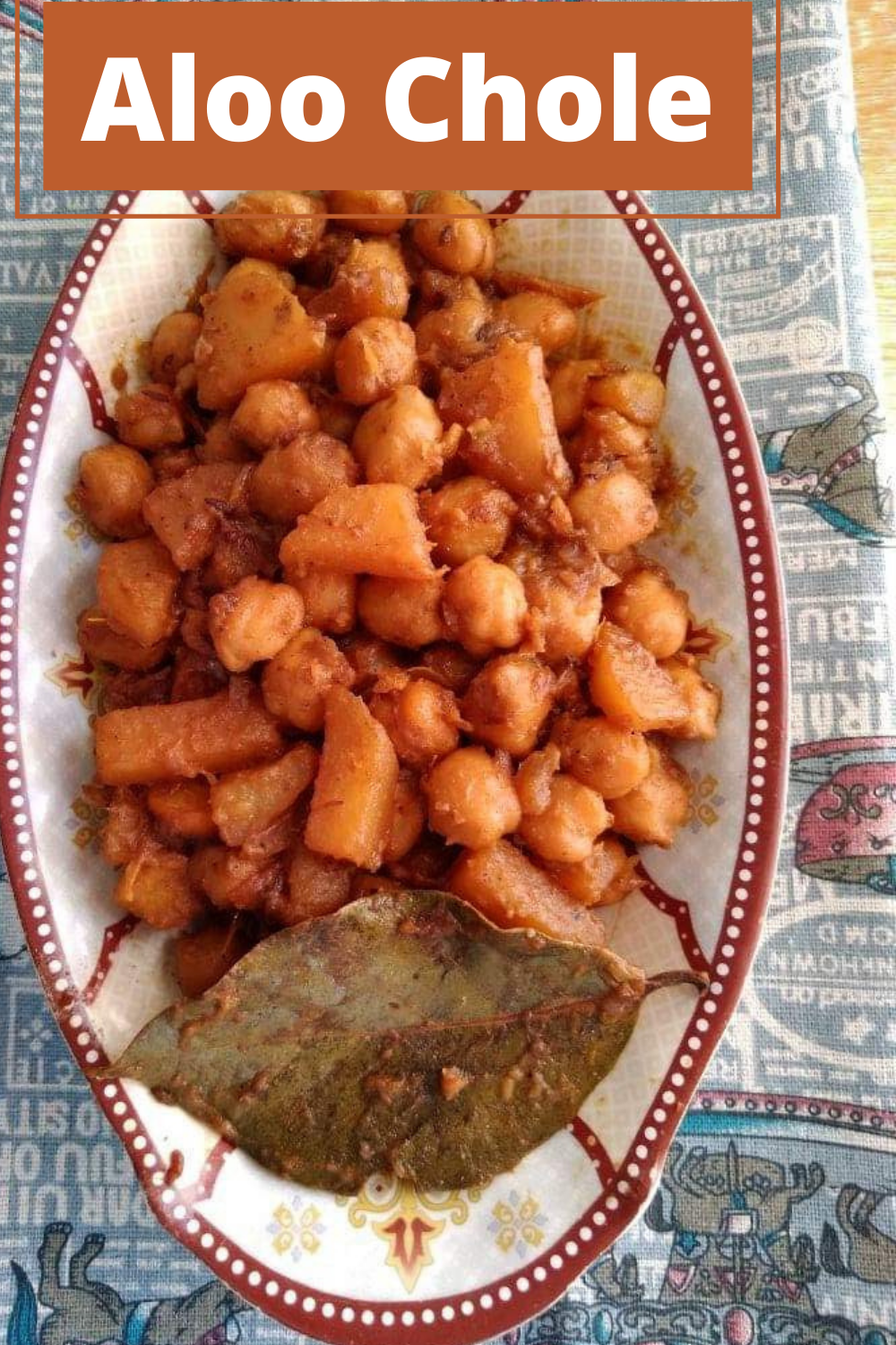 Aloo chole recipe is a Indian dish that is mixed with chickpeas, potatoes, and spices. It is a vegetarian dish which is best serve with rice or roti flatbread.