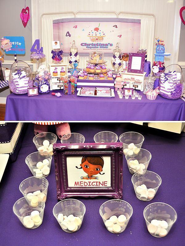Pink Purple Doc Mcstuffins Party Doc Mcstuffins Party Doc Mcstuffins Birthday Party Doc Mcstuffins Birthday Cake