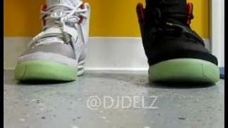 Nike Air Yeezy 2 Pure Platinum VS Solar Red Sneakers W/ @DjDelz