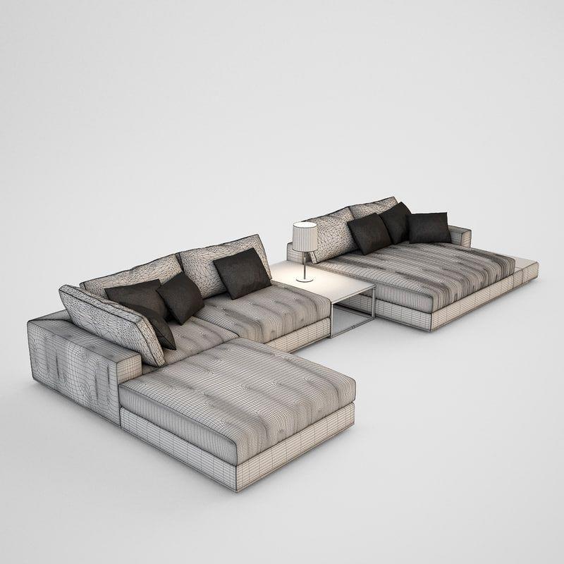 realistic sofa 3d max Divani