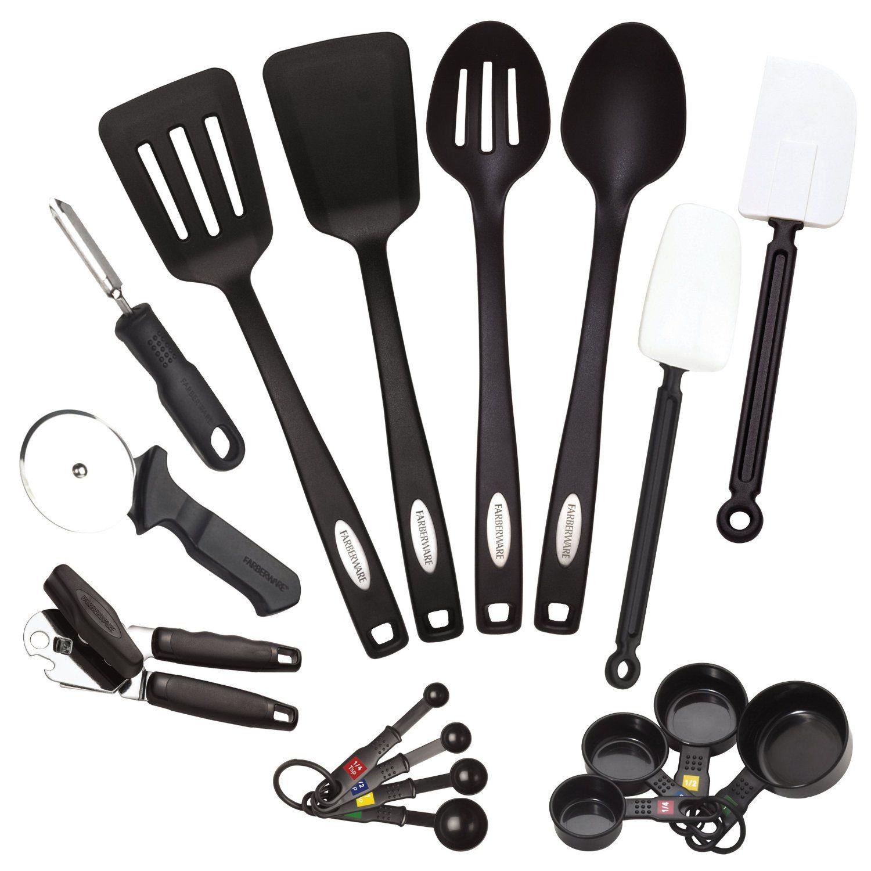 Amazon.com: Farberware Classic 17 Piece Tool And Gadget Set: Kitchen Tool  Sets: Kitchen U0026 Dining